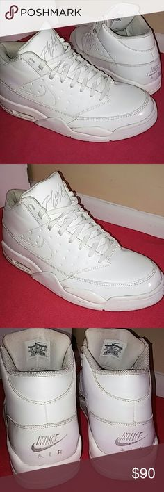 Nike Air Flight...RARE!!....Size 13 MEN. This RARE Nike Air Flight is just about 13 months old. Purchased this on a short trip in London for ?93...which is about $170... Shoes shows little sign of use. Worn at least between 7-10 times. Shoes is flawless and in excellent shape and rated 9/10 as only undersoles shows signs of use. Inside of shoes is NOT DIRTY as flash from the phone made the photo of inside look dirty... A very comfy and rare Air flight...This is 200% Authentic nike product…