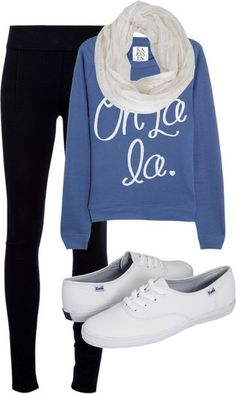 Black skinnies and keds Fall Winter Outfits, Autumn Winter Fashion, Look Fashion, Teen Fashion, Fall Fashion, Casual Outfits, Cute Outfits, Teen Outfits, School Outfits