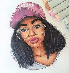 Happiness and politeness dope art, beautiful drawings, cartoon drawings of girl Black Girl Art, Black Women Art, Art Girl, Black Girls, Beautiful Drawings, Cute Drawings, Tumblr Drawings, Natural Hair Art, Cartoon Girl Drawing