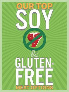 """Soy & Gluten-Free """"Meats"""""""