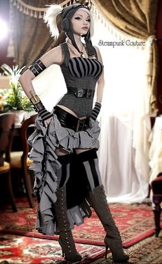 This is a great wearable modern Steampunk outfit!