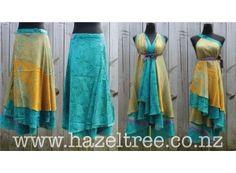 Hazeltree Magic Wrap Skirt- Anyone know how to make these? Dark Green Prom Dresses, Peach Prom Dresses, Prom Dresses Long Modest, Straps Prom Dresses, A Line Prom Dresses, Funky Fashion, Diy Fashion, Fashion Room, Kimono Fashion