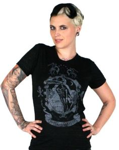Too-Fast-Cabinet-of-Curiosities-Skull-Skeleton-Crow-Back-Shirt-Top
