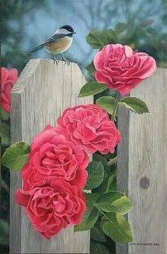 Painting of a bluebird and carnations. Gravure Photo, Bird Artwork, Art Plastique, Botanical Art, Beautiful Paintings, Beautiful Birds, Pet Birds, Art Pictures, Flower Art