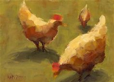 """Just Us Chickens"" - Original Fine Art for Sale - © Mary Byrom"