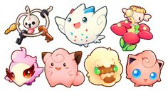 fairy pokemon sticker set - Thumbnail 1