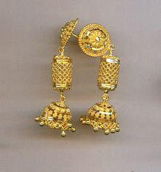 Gold Jhumka Earrings, Drop Earrings, Jhumka Designs, Daily Wear, Fancy, Jewellery, Jewels, Board, Beautiful