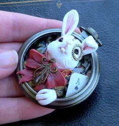 Steampunk bunny cabochon