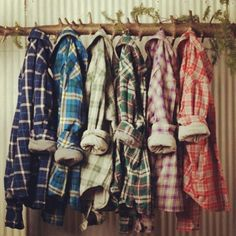 flannel. this is what my closet looks like