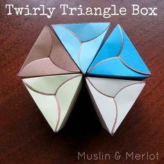 Twirly Triangle Box!