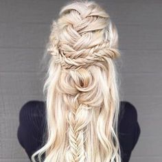 FRENCH BRAID CROWN WITH LOOSE WAVES