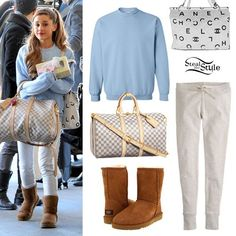 ariana grande steal her style | Ariana Grande at LAX airport in Los Angeles, CA on December 9, 2013 ...