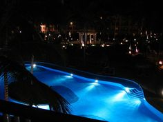 Majestic Colonial Pool at night | Punta Cana, Dominican Republic