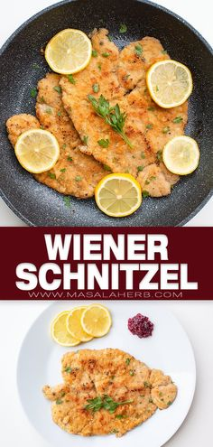 Authentic Wiener Schnitzel Recipe - Make the best classic Wiener Schnitzel the proper Austrian way. How to prepare this breaded meat cutlet from scratch with process shot instructions and video to make this easily and quickly. Homemade with side dish ideas. www.MasalaHerb.com