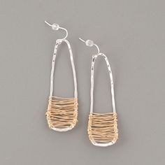 Dana Reed Hammered Wrapt Earrings - Hammered sterling silver wrapped in 14k gold-filled wire. Sale $52.99