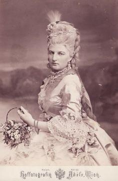 Amalie of Bavaria in 18th century costume