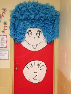 Cat In The Hat Do Whole Hall Themed Doors