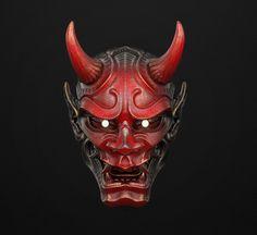Japanese Hannya Mask, Japanese Demon Tattoo, Japanese Demon Mask, Oriental, Mascara Hannya, Hannya Maske, Hannya Mask Tattoo, Ceramic Mask, Samurai Artwork