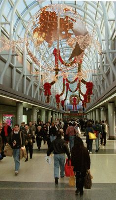Christmas Over The Years In Chicago   Chicago O'Hare International Airport has the busiest day of the year the Sunday following Thanksgiving.