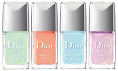 Dior Trianon Collection for Spring 2014 Vernis Nail Lacquer Polish in Blossom, Pampille, Porcelaine and Perle