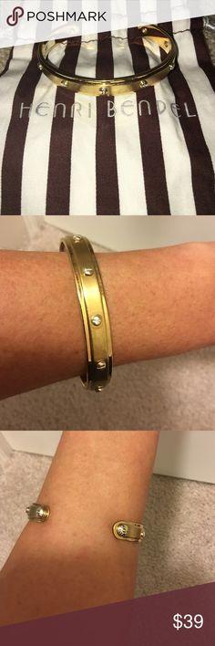 Henri Bendel Gold Screw You Baby Cuff Bracelet Henri Bendel Gold Screw You Baby Cuff Bracelet worn a few times there is signs of wear n tear on it henri bendel Jewelry Bracelets