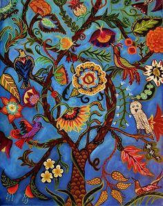 Árbol de la vida II fina lámina por CatherineNolinArt en Etsy