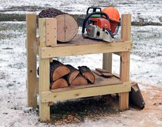 Cutting Bench Makes it easy to convert fresh-cut logs into turning blanks - FineWoodworking