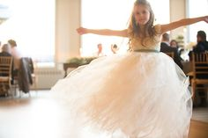 Dahlia Lace and Tulle Flower Girl Dress - King Soleil - 1