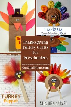 It's Fall, Y'all! Let's get crafty with our kiddos! These fun Thanksgiving turkey crafts for preschoolers make a great kid's activity to do with your little one. #turkeycrafts #preschoolcrafts #turkeycraftsforpreschoolers #thanksgivingcrafts #fallcraftsforpreschoolers #thanksgivingturkey #fallcrafts #homeschooling | oursmallhours.com Turkey Crafts For Preschool, Fall Crafts For Toddlers, Thanksgiving Preschool, Thanksgiving Turkey, Toddler Crafts, Toilet Paper Roll Crafts, Craft Stick Crafts, Pediatric Ot, Pinterest Crafts