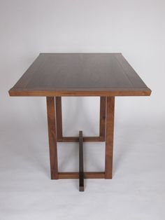 Mid Century Modern Kitchen Table wood table, wood dining table, harvest table, wood furniture