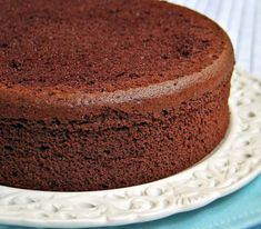 This sponge cake is made with no added fat (besides the eggs), making it a relatively low fat cake. Split the cake and fill with a layer or jam or preserves and serve with a lightly sweetened whipped cream or a low fat whipped topping.