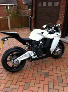 Bought this KTM RC8 on impulse in April 2012 at the Scottish Motorcycle show. Fantastic bike I will keep for a while for track days and short runs. It is remarkably comfortable for a sports bike.