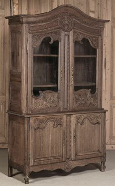 Antique 18th Century Country French Buffet a Deux Corps   Antique Furniture    Inessa Stewart's Antiques    www.inessa.com