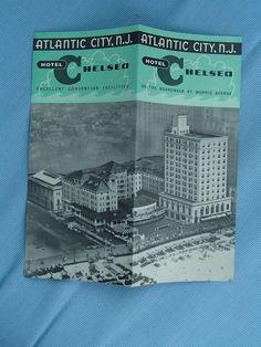 1940s THE CHELSEA Hotel Brochure Atlantic City, NJ