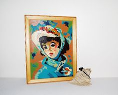 Vintage Paint by Numbers Pretty 1920's by CheekyVintageCloset
