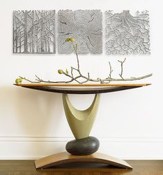 Elemental Hall Table: Derek Secor Davis: Wood Console Table - Artful Home