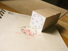 アナログ時計 24時間タイプ   OSANPO Shopping   手帳に役立つスタンプ雑貨の通販