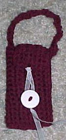 For an intermediate crochet pattern you can make yourself a cell phone holder. It's great for keeping your cell phone getting scratched up and you can easily access it.
