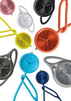 The flexible Take Time wrist watch by LEXON was designed by Mathieu Lehanneur to be a smart multifunctional and unisex wrist watch for all occasions. Stylish Watches, Cool Watches, Wrist Watches, Lexon Design, Mathieu Lehanneur, Color Plan, Mens Sport Watches, Medical Design, Rubber Watches