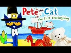 Pete the Cat: The First Thanksgiving - Children's Story Read Aloud - Thanksgi. Thanksgiving Videos, Thanksgiving Preschool, Fall Preschool, First Thanksgiving, Preschool Songs, Preschool Learning, Holiday Activities, Classroom Activities, Classroom Ideas