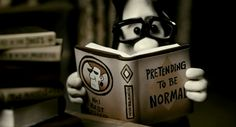Animated gif: My favorite book - Pretending to Be Normal
