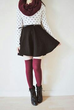 fall adorable But with black stokings
