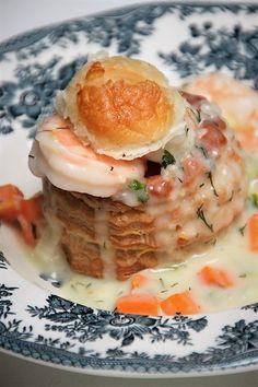 Ragout met garnalen van foodblog Foodinista Christmas Food Treats, Vol Au Vent, Party Snacks, Bon Appetit, Meat Recipes, Nom Nom, Seafood, Food Porn, Good Food