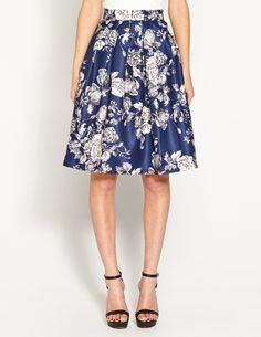 Image for Floral Full Midi Skirt from Dotti