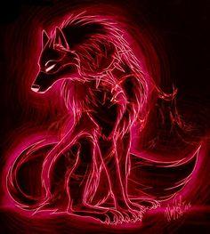 Crimson Wolf by CrimsonFlare321.deviantart.com on @DeviantArt