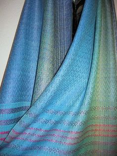 Shimmering Silk Shawl, Handwoven and Hand Dyed by Tisserande on Etsy, $275.00