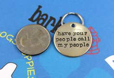 Custom Dog Tag   Unique Pet ID Tag  Handstamped Nu by critterbling, $11.00