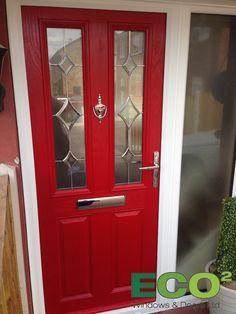 Front Door Red 1930s style composite front door   home   pinterest   1930s style