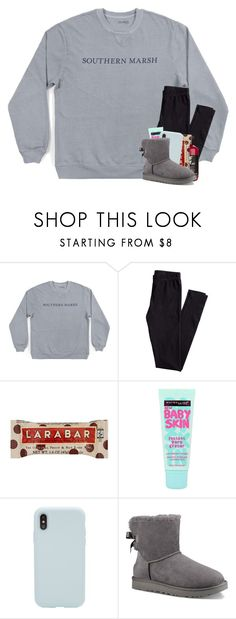"""""""cozy"""" by madelinelurene ❤ liked on Polyvore featuring H&M, Beauty Secrets, Maybelline, Sonix and UGG"""