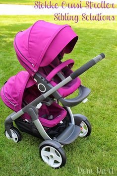 Stokke Crusi Stroller with Siblings Solution makes this a multifunctional stroller. 5 Seat possitions. Single Stroller or a Double Stroller and SO pretty!